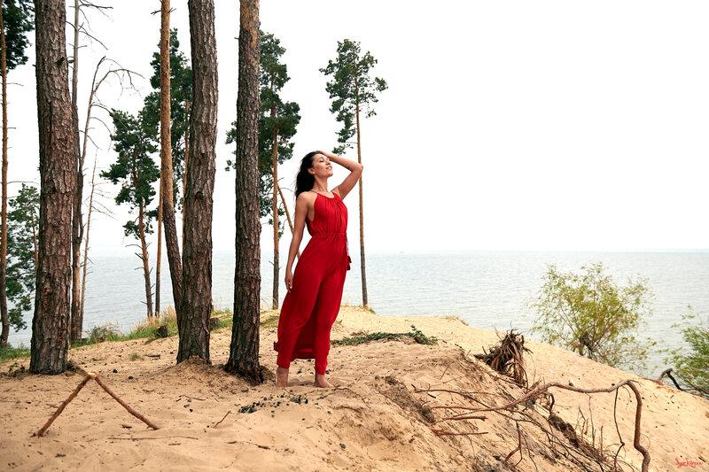 Дерево, Платье, Воды, Платье, Завод, Длинные волосы, Лес